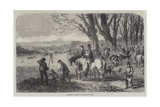 Coursing Meeting at Hampton Park Giclee Print by Frederick John Skill