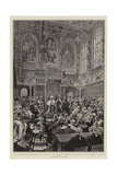 The Opening of Parliament by the King, His Majesty Reading His Speech in the House of Lords Giclee Print by Frederic De Haenen