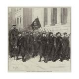 The War, a Battalion of Francs-Tireurs Passing Through Tours Reproduction procédé giclée par Frederick Barnard