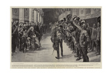 Three Cheers for the Queen, Her Majesty Inspecting Invalided Colonial Volunteers at Windsor Castle Giclee Print by Frederic De Haenen