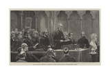 Dean Stanley Memorial Meeting in the Chapter House, Westminster Abbey Reproduction procédé giclée par Frank Dadd