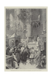 The Coronation of the Czar, the Public Inspecting the Preparations in the Church of the Assumption Giclee Print by Frederic De Haenen