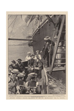 Exiled, General Cronje Embarking on the Ss Milwaukee for St Helena Giclee Print by Frederic De Haenen