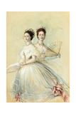Portrait of Czarina Maria Feodorovna and Her Sister Alexandra Reproduction procédé giclée par Franz Xaver Winterhalter