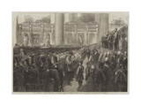 The Liverpool Press Guard (80th Lancashire Rifle Volunteers) Taking the Oaths in St George's Hall Giclee Print by Frederick John Skill