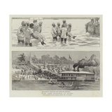 With Lord Dufferin in Burma Giclée-Druck von Frederic Villiers