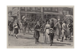 The Crisis in the Transvaal, a Street Scene in Johannesburg Reproduction procédé giclée par Frank Dadd