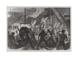 Casting a Large Cylinder at the Canal Ironworks, Poplar Giclee Print by Frederick John Skill