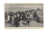 The Last of the Exiles, Russian Prisoners on their Way to Prison in Siberia Giclee Print by Frederic De Haenen