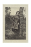 A Breton Girl, Evening Giclee Print by Frederick John Skill