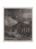 The Cyclone Striking the Eastern End of the Eads Bridge Giclee Print by G. W. Peters