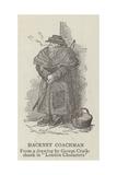 Hackney Coachman Lámina giclée por George Cruikshank