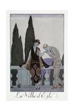 Villa D'Este Near Florence Giclee Print by Georges Barbier