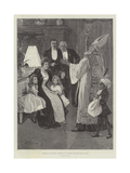 Christmas in Holland, Arrival of St Nicholas, the Dutch Santa Claus Giclee Print by Gabriel Nicolet