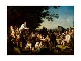 Stump Speaking, 1853–54 Gicléedruk van George Caleb Bingham
