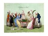 A Group at Bath, 1796 Lámina giclée por George Cruikshank