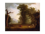 Landscape with Cattle, 1846 Gicléedruk van George Caleb Bingham