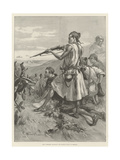 Riff Tribesmen Harassing the Spanish Troops at Melilla Giclee Print by Gabriel Nicolet