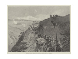 Sketches in Morocco, March of the Sultan's Army Through the Pass of the Mlouia Giclee Print by Gabriel Nicolet