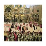 Procession in St. Mark's Square, 1496 Giclée-tryk af Gentile Bellini
