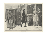 A Visit from an Old Friend Giclee Print by George Edward Robertson