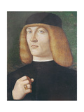 Portrait of a Young Man Giclée-tryk af Gentile Bellini