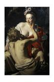 Granida and Daifilo, 1625, by Gerard Van Honthorst (1592-1656). Netherlands Lámina giclée por Gerrit van Honthorst