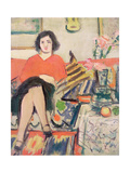 Interior with a Figure Giclee Print by George Leslie Hunter