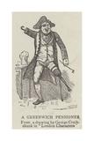 A Greenwich Pensioner Lámina giclée por George Cruikshank