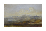 The Carrara Mountains from Pisa, 1845 - 1846 Reproduction procédé giclée par George Frederick Watts