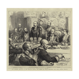 The Masonic Banquet at the Mansion House, the Prince of Wales Proposing the Lord Mayor's Health Reproduction procédé giclée par Godefroy Durand