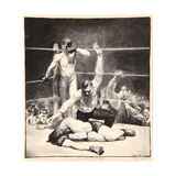 Counted Out, 1921 Giclée-tryk af George Wesley Bellows