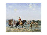 Arab Cavalry Fording a Stream Giclee Print by Georges Washington