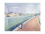 The Channel of Gravelines, Petit Fort Philippe, 1890 Reproduction procédé giclée par Georges Seurat