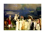 A Game of Polo, 1910 Giclée-tryk af George Wesley Bellows