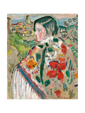 Girl in a Shawl Giclee Print by George Leslie Hunter