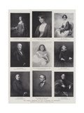 The Family Portraits of the Gladstones at Hawarden Giclee Print by George Richmond