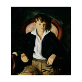 Portrait of a Boy, 1921 Giclée-tryk af George Wesley Bellows