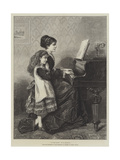At the Piano Giclee Print by George Goodwin Kilburne