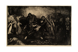 The Germans Arrive, 1918 Giclee-trykk av George Wesley Bellows