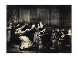 Dance in a Madhouse, 1917 Giclée-tryk af George Wesley Bellows