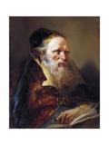 Head of Philosopher, C.1750-60 Giclée-tryk af Giandomenico Tiepolo
