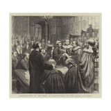 The Opening of Parliament, Introduction of the Earl of Beaconsfield to the House of Lords Reproduction procédé giclée par Godefroy Durand