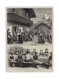 A Sunday School Treat in the Swiss Oberland Giclee Print by George Goodwin Kilburne