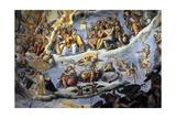 Italy. Florence. Dome of Brunelleschi. Last Judgement, by Giorgio Vasari and Zuccari Giclée-Druck von Giorgio Vasari