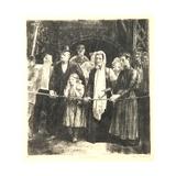 The Dead-Line, 1923 Giclée-tryk af George Wesley Bellows