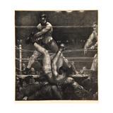 Dempsey Through the Ropes, 1923-24 Reproduction procédé giclée par George Wesley Bellows