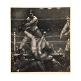 Dempsey Through the Ropes, 1923-24 Giclée-tryk af George Wesley Bellows