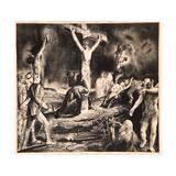 Crucifixion of Christ, 1923 Reproduction procédé giclée par George Wesley Bellows