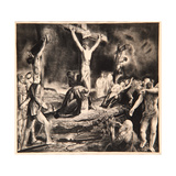 Crucifixion of Christ, 1923 Giclee-trykk av George Wesley Bellows